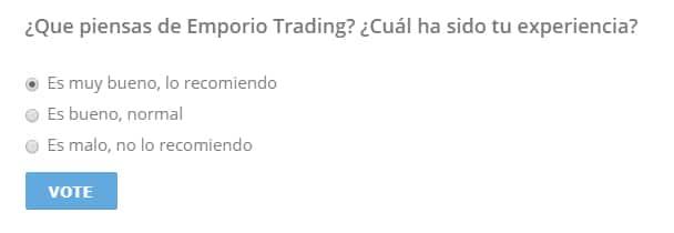 Comentario de Emporio Trading